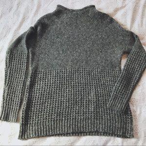 AE Mock Neck Textured Sweater
